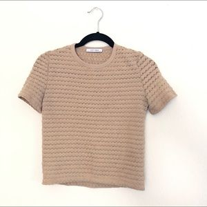 ZARA crochet knit top